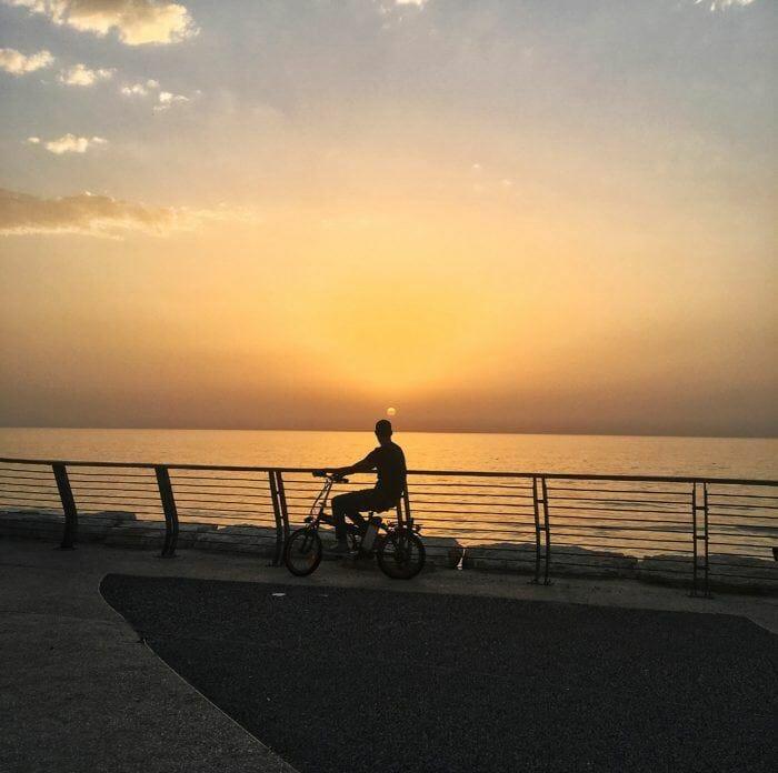 sunset by the beach in Tel Aviv