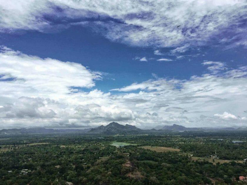 View from Sigiriya Sri Lanka