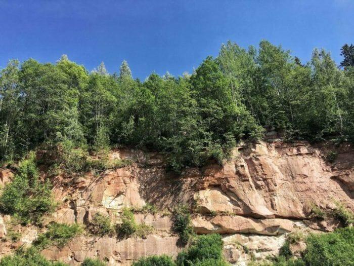 Gauja National Park cliffs