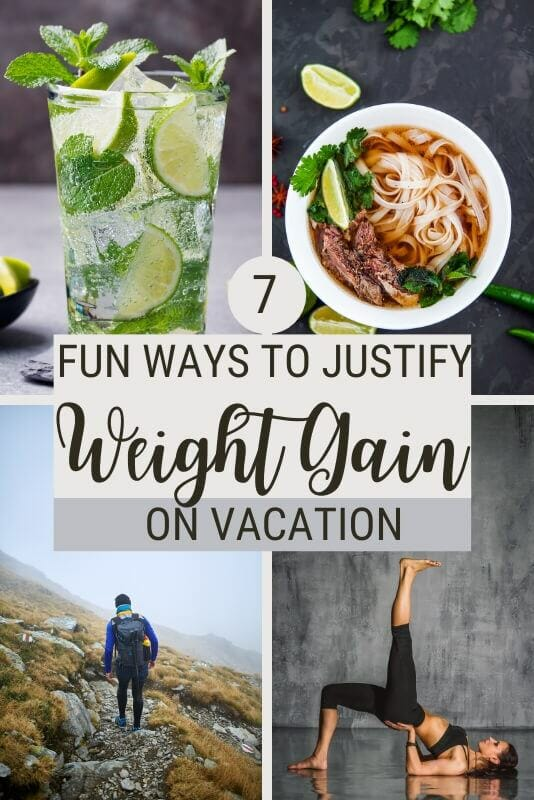 Find out how you can justify weight gain on vacation - via @clautavani