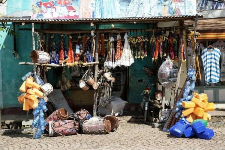 shopping in Ethiopia