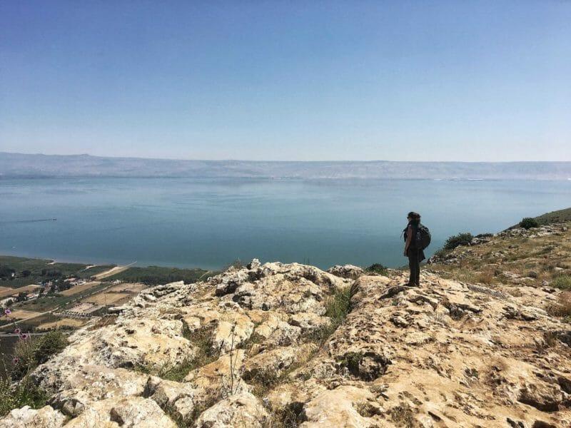 Sea of Galilee from Mount Arbel
