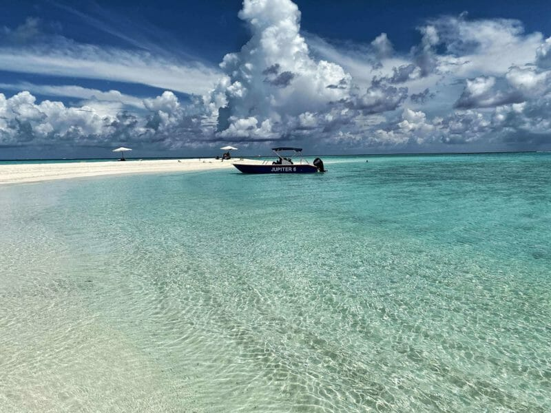 Sand bank in the Maldives