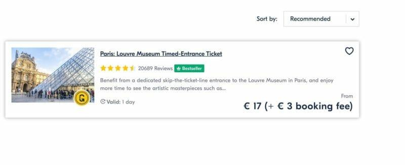 Louvre tickets on GYG