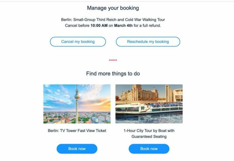 manage booking GYG