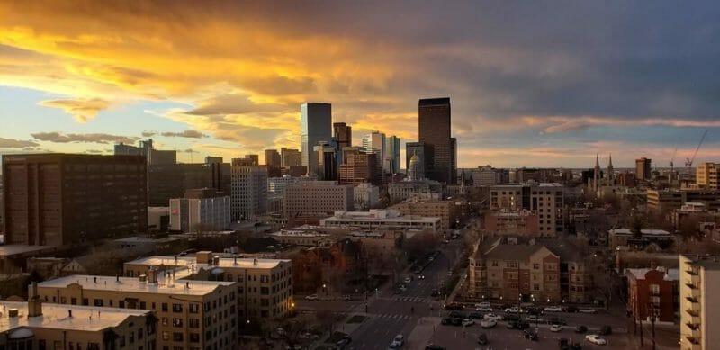 Sunset over Denver