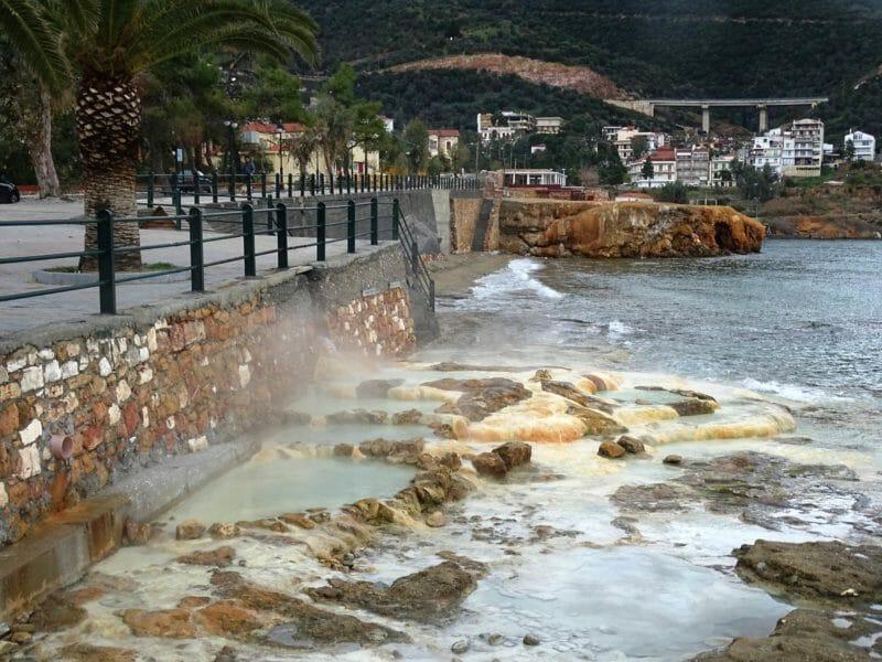 Thermal spring in Greece
