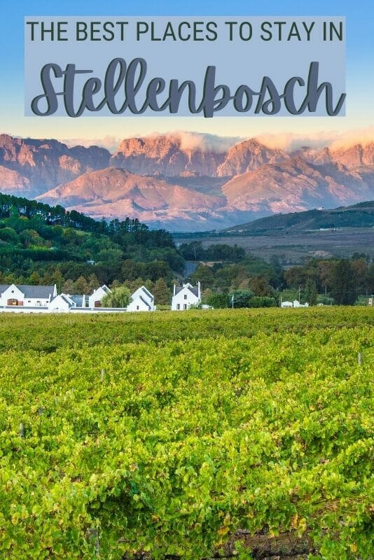 Discover the best hotels and Airbnbs in Stellenbosch - via @clautavani