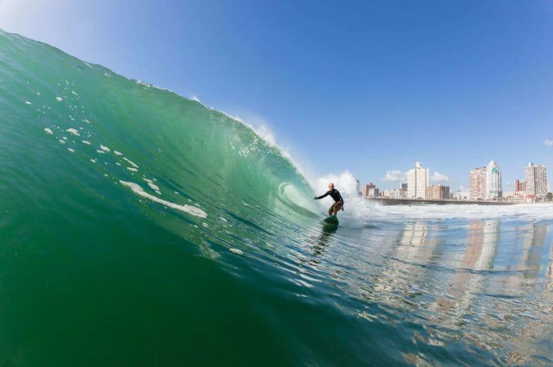 surfing in Durban