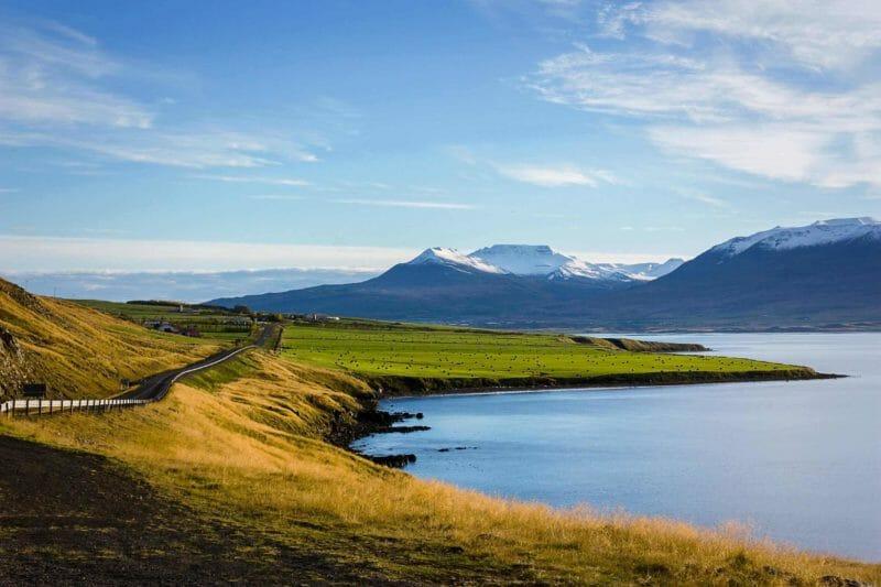 on the way to Akureyri