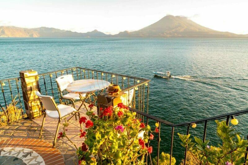 drinks at Lake Atitlan