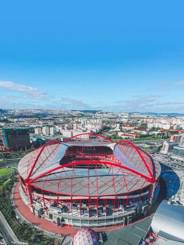 the Lisbon stadium